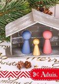 Crèche de Noël en papier mâché