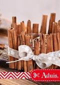 Déco de Noël - Photophore avec bâtons de cannelle