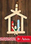 Crèche de Noël avec bâtonnets en bois
