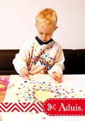 Tablier de peinture multicolore