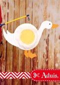 Lampion avec des assiettes en carton - Oie