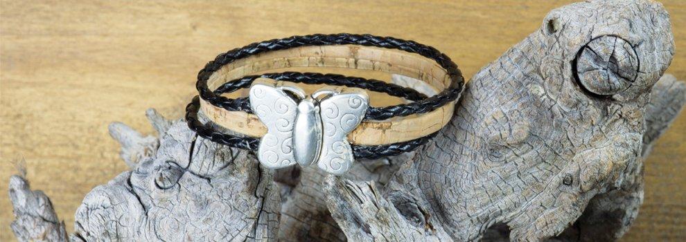 Bracelet avec fermoir papillon