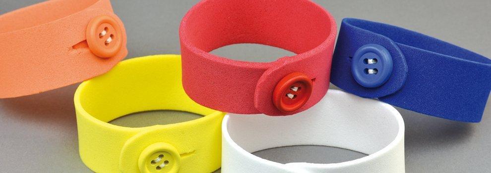 Bracelets caoutchouc-mousse