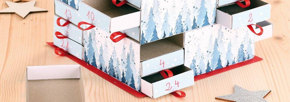 Calendriers de l'Avent avec boîtes d'allumettes
