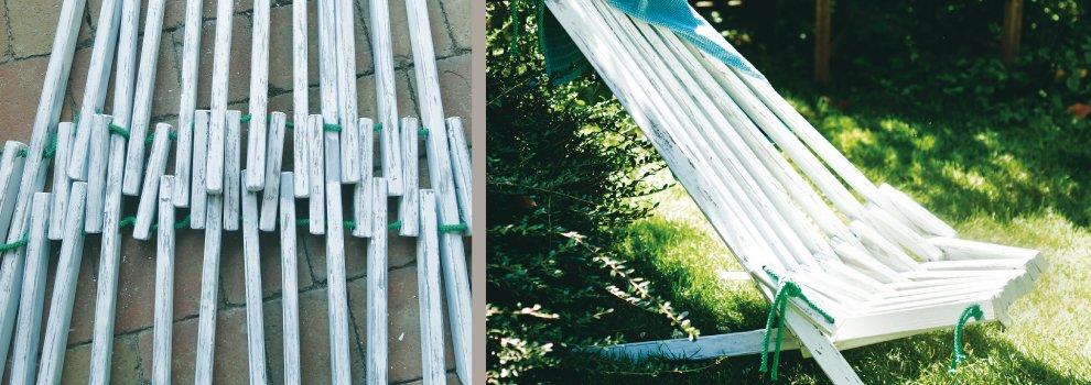 Chaise de jardin avec lattes en bois