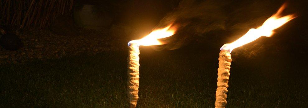 Flambeau-Torche en ruban de jute