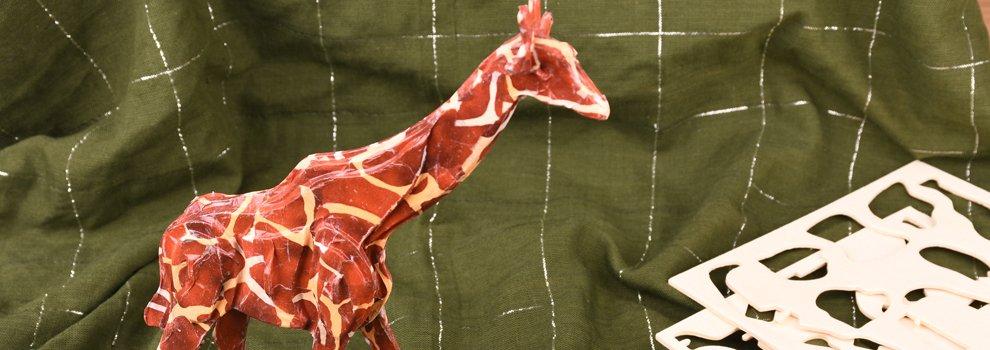 Maquette en bois Girafe