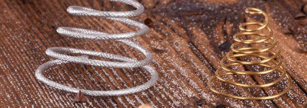 Suspensions de Noël : Petit sapin en fil alu
