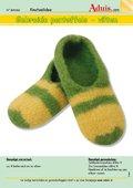 Gebreide pantoffels - vilten