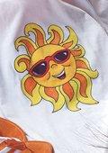 T-shirt met zon