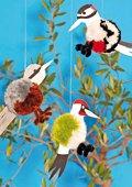 Pompon-vogels om op te hangen