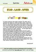 """""""Stad - land - rivier"""" spel"""