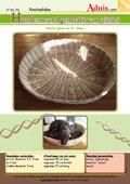 Hondenmand gemaakt van pitriet