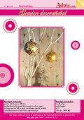 Gouden decoratiebal