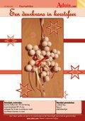 Een deurkrans in kerstsfeer