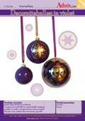Decoratieballen in violet