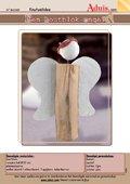 Een houtblok engel