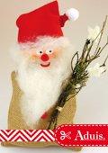 Kerstman van jute