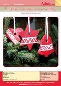 Kerstboom ornamenten van zoutdeeg
