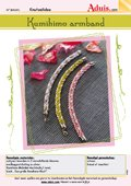 Kumihimo armband met ruitpatroon