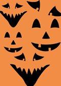 Griezelige Halloween gezichten