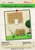Prikbord gemaakt van knutselkurken