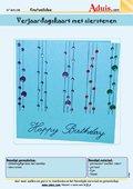 Verjaardagskaart met sierstenen