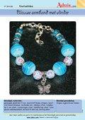 Blauwe armband met vlinder