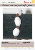 Lederen armband met kralen in steenoptiek
