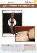 Suede armband met metalen deel