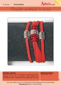 Suede armband in rood