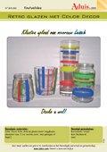 Retro glazen met Color Decor