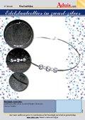 Edelstaalcollier in zwart-zilver