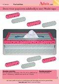 Doos voor papieren zakdoekjes met Washi-tape