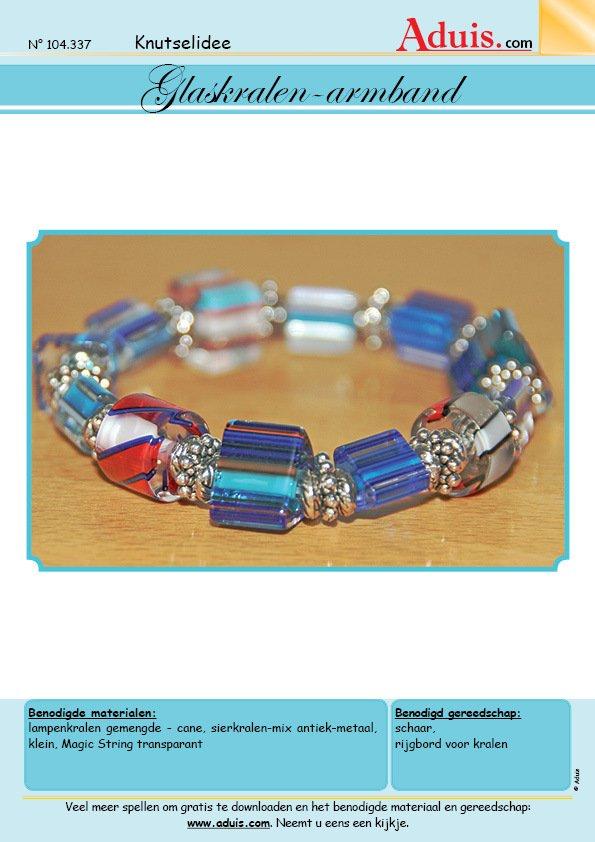 Glaskralen-armband