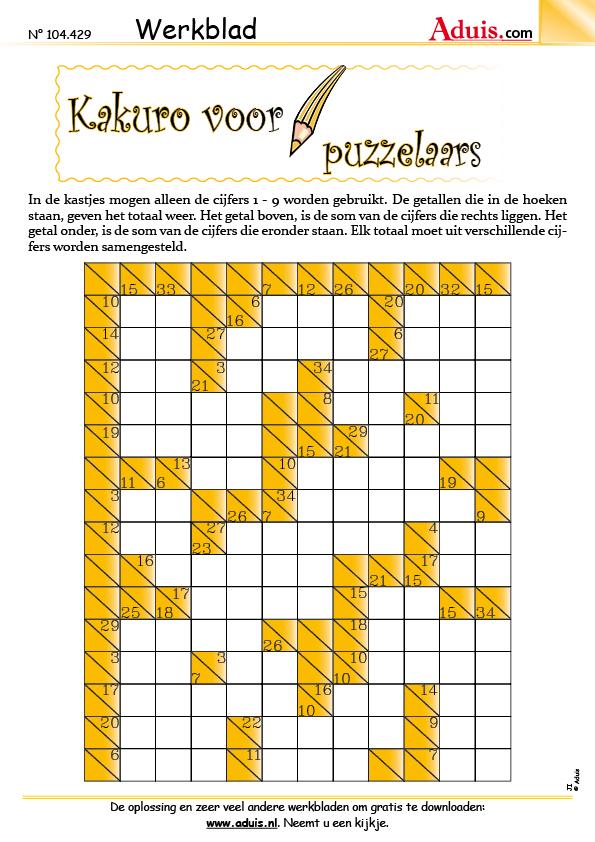 Kakuro voor puzzelaars
