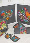 Cadeauverpakkingen met kleurplaten