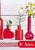 Decoratie gemaakt van glazen flessen