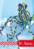 Octopus gemaakt van chenilledraad