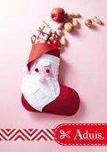 Kerstman sok gemaakt van vilt