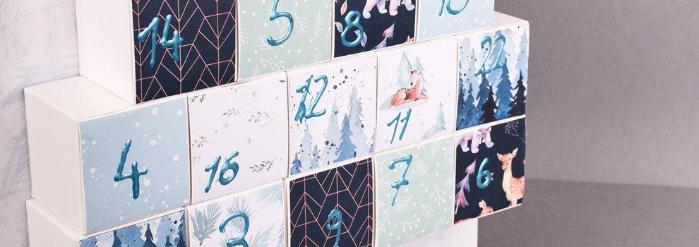Adventskalender van kubusdozen
