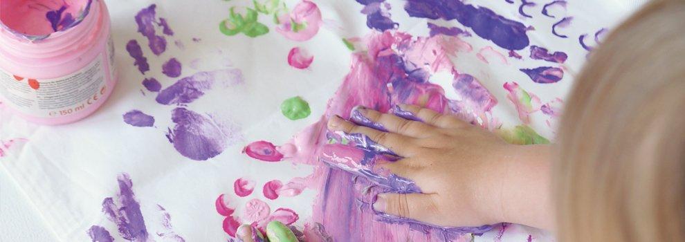 Basisinstructies - textielvingerverf