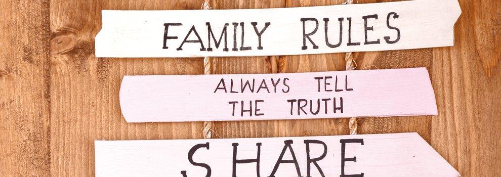 "Decoratief bord ""Familie"""