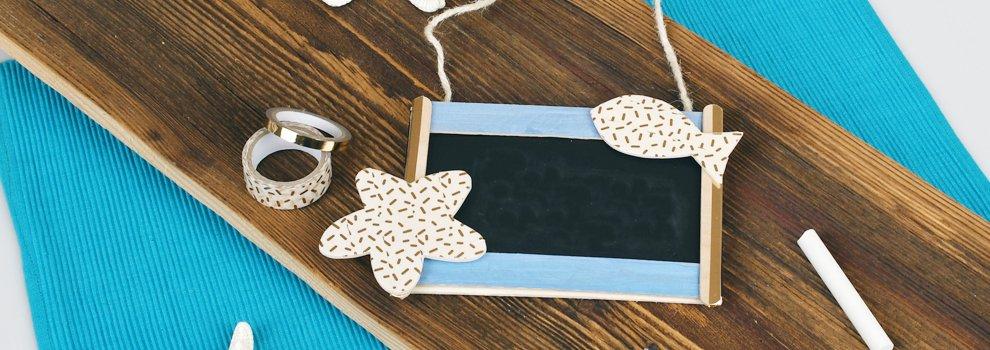 Deurhanger met schoolbord