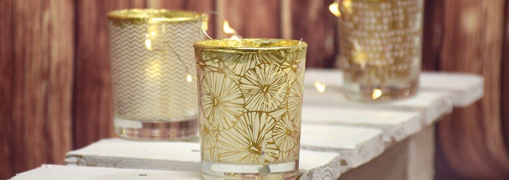 Glazen versieren met décopatch in metallic look