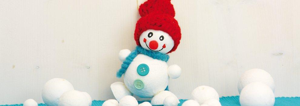 Grappige watten-sneeuwpop