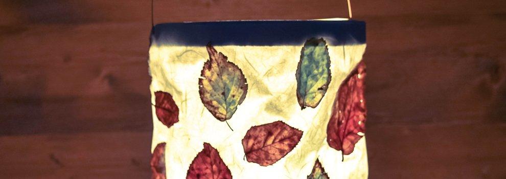 Lampion met bladeren!
