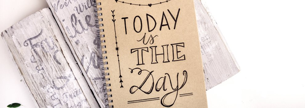 "Notitieboek ""today is the day"""