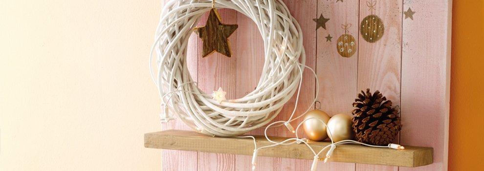 Schappen in kerstsfeer