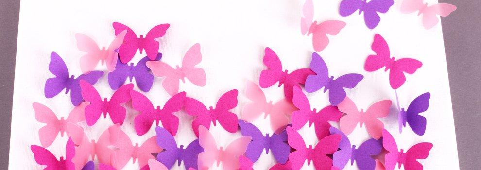 Schilderdoek met vlinders